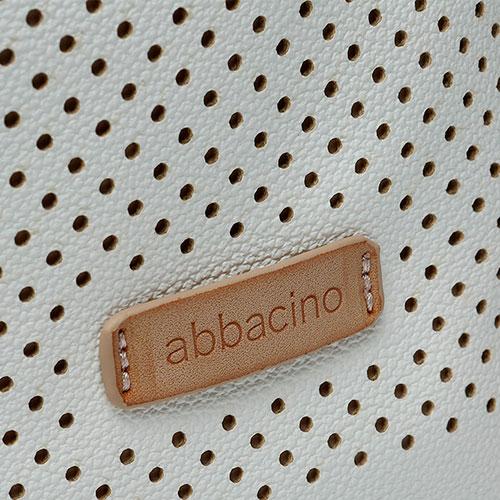 detalle del bolso reciclado de la marca abbacino