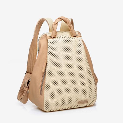 lateral de la mochila reciclada de la marca abbacino
