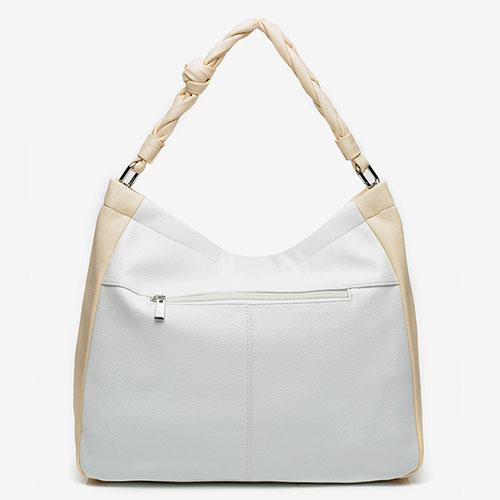 trasera del bolso hobo reciclado de la marca abbacino