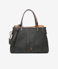 asa del bolso lady kris en color negro de la marca abbacino