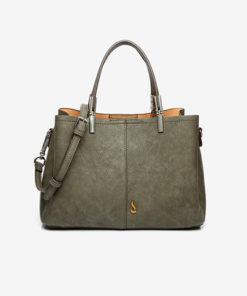 asa del bolso lady kris en color verde de la marca abbacino