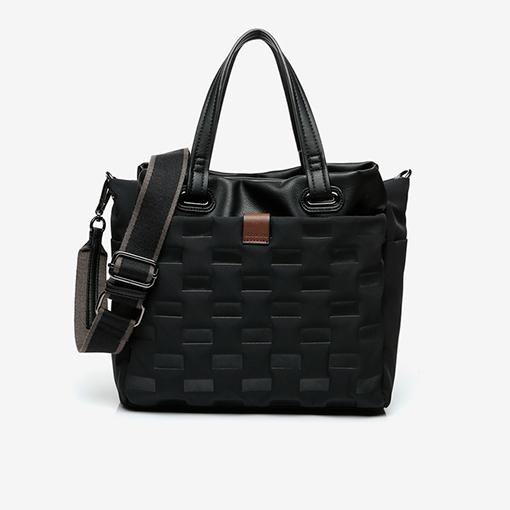 asa del bolso shopper abhimana en color negro de la marca abbacino