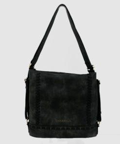 bolso - mochila balos en color negro de la marca caramelo
