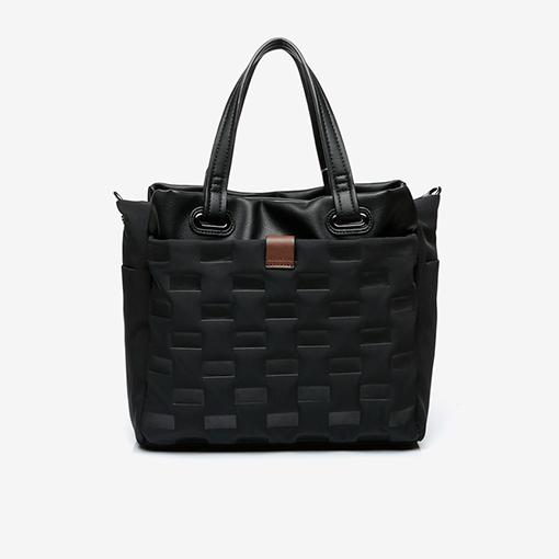 bolso shopper abhimana en color negro de la marca abbacino