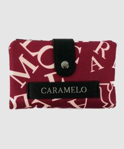 cartera samos en color rojo de la marca caramelo