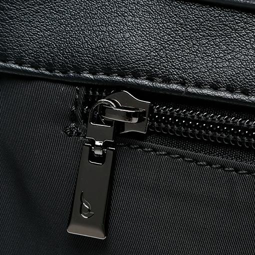 detalle del bolso shopper abhimana en color negro de la marca abbacino