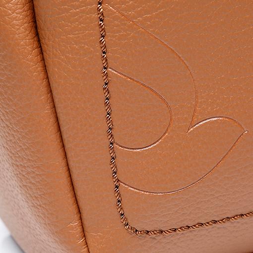 detalle del bolso shopper de materiales reciclados de la marca abbacino