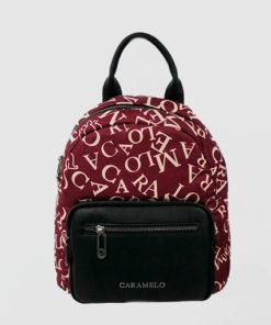 mochila logomania en color rojo de la marca caramelo