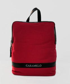 mochila rodas en color rojo de la marca caramelo
