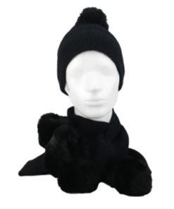 conjunto pompom en color negro