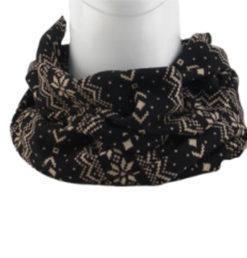 cuello con motivos navideños en color negro