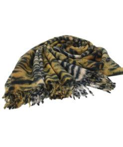 pasmina print tigre en color marrón