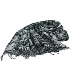 pasmina print tigre en color negro